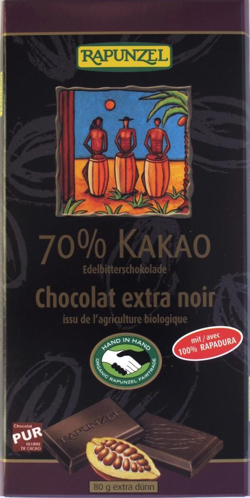 Rapunzel 70%-Schokolade Vorderseite
