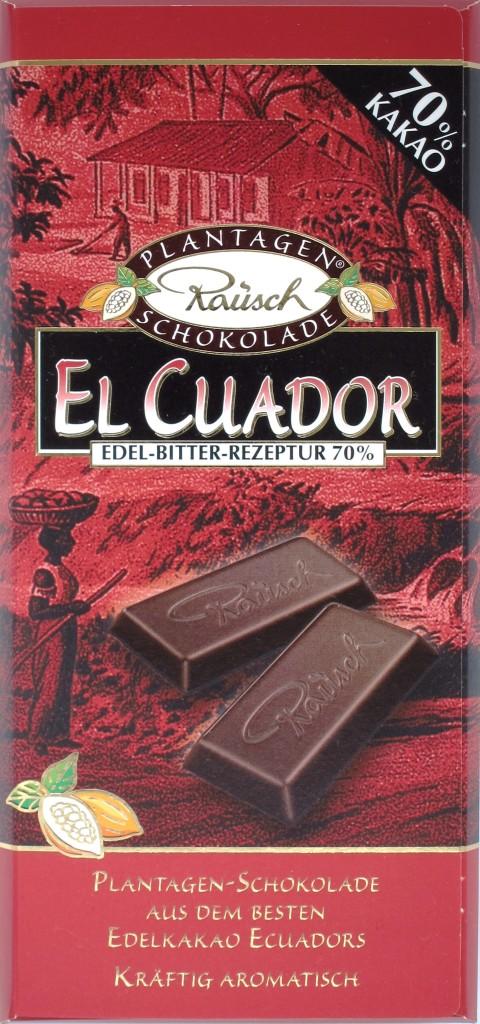 Rausch Ecuador-Bitterschokolade 70%