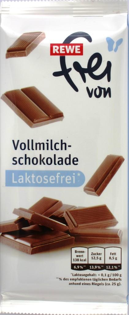 REWE laktosefreie Vollmilchschokolade