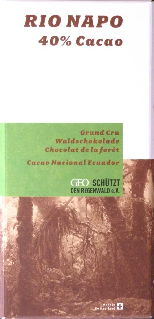 Rio Napo 40% Milchschokolade: Vorderseite