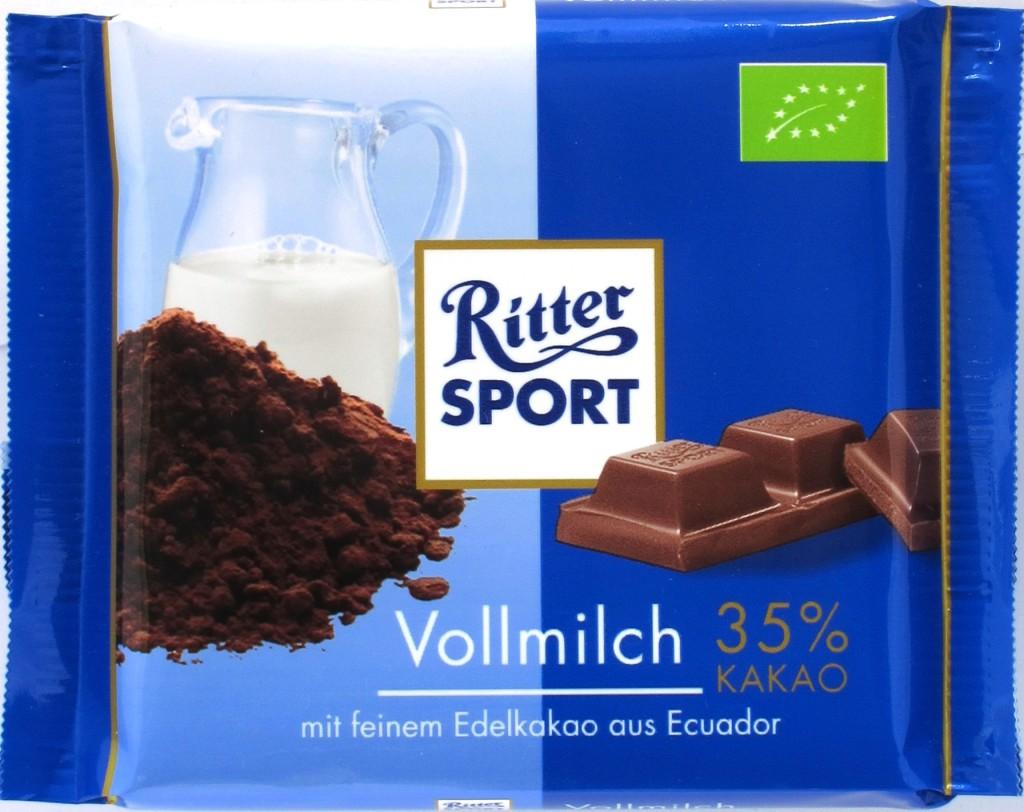 Ritter Sport Vollmilchschokolade Bio