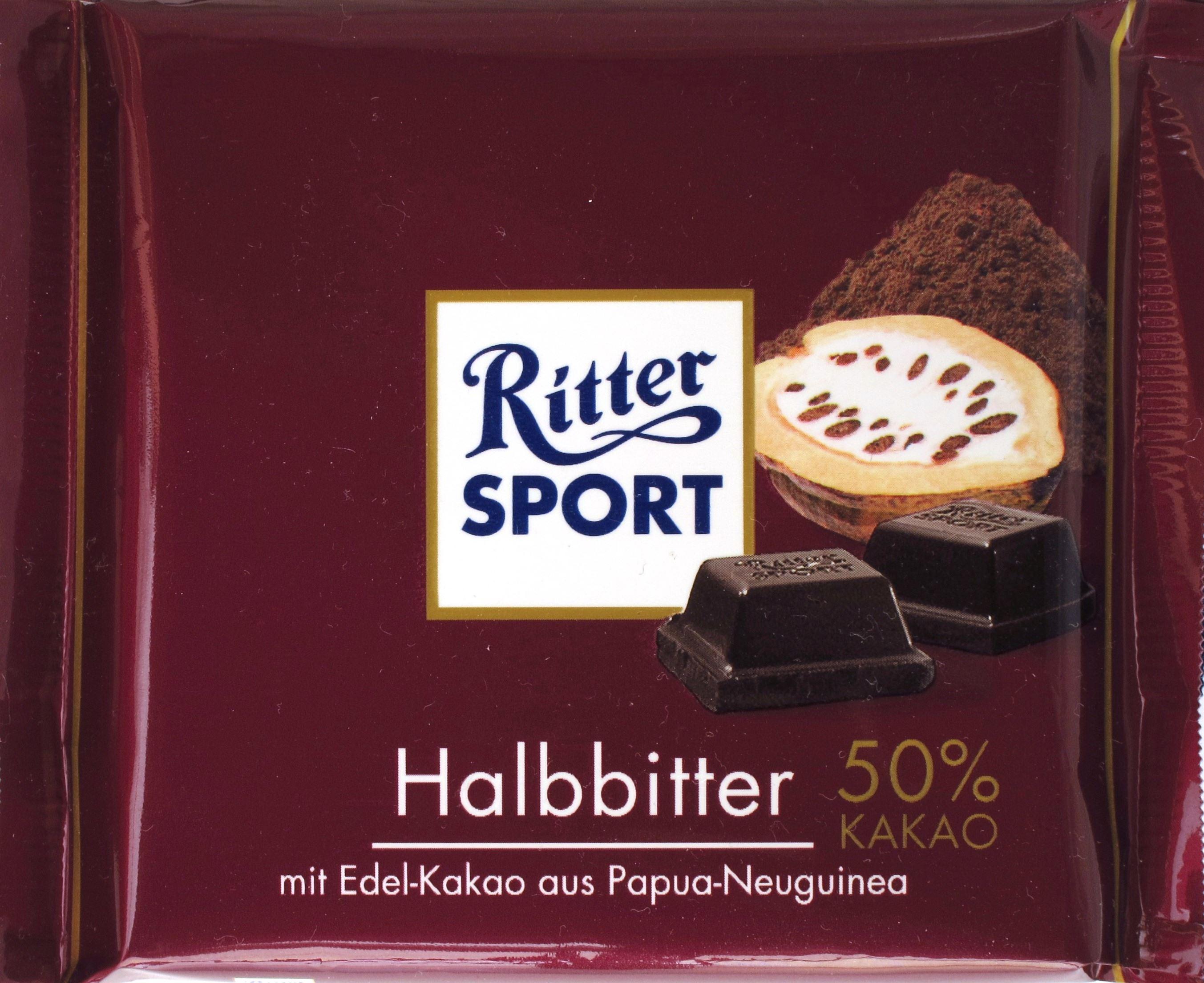 Ritter Sport Halbbitter-Schokolade Packung