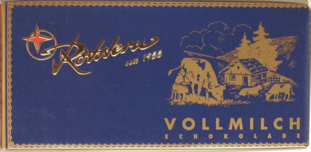 Thüringische Schokolade: Rotstern Vollmilch