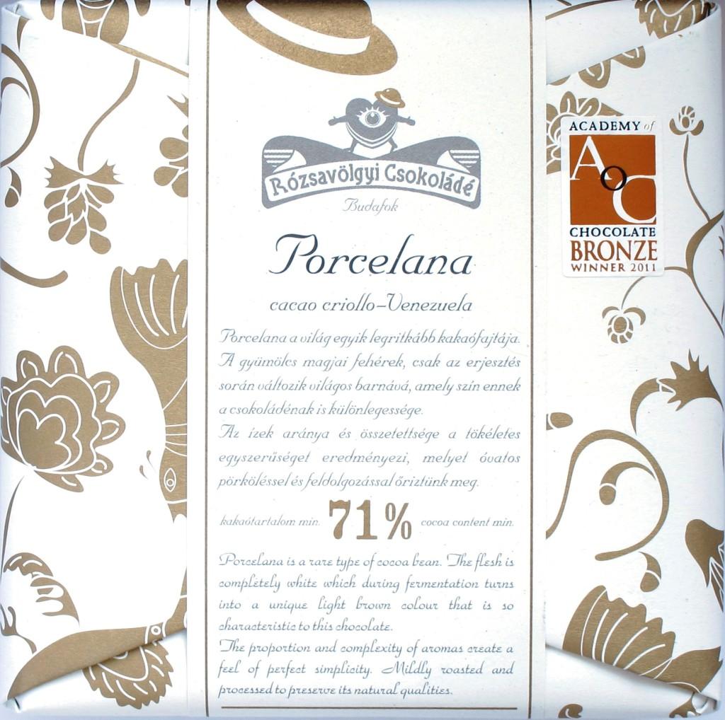 Rózsavölgyi Csokoládé: 71% Criollo Porcelana Schokolade