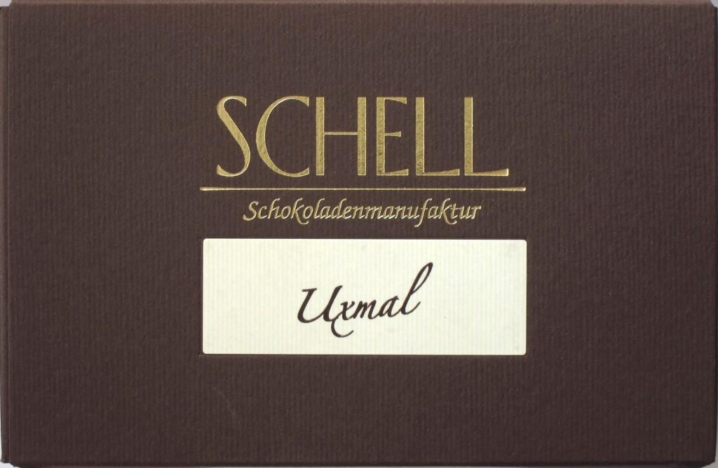 Schell-Schokolade Uxmal, Vorderseite