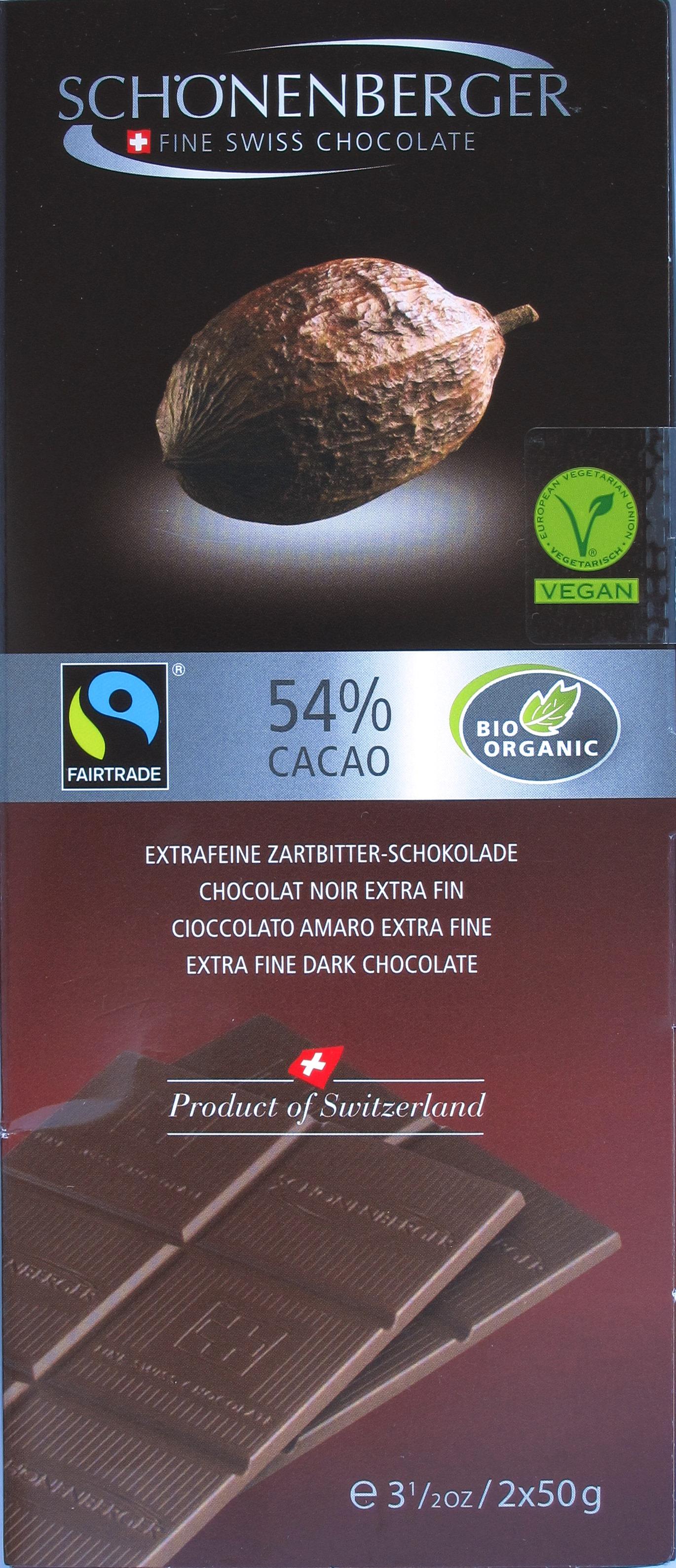 54%-Bitterschokolade von Schönenberger