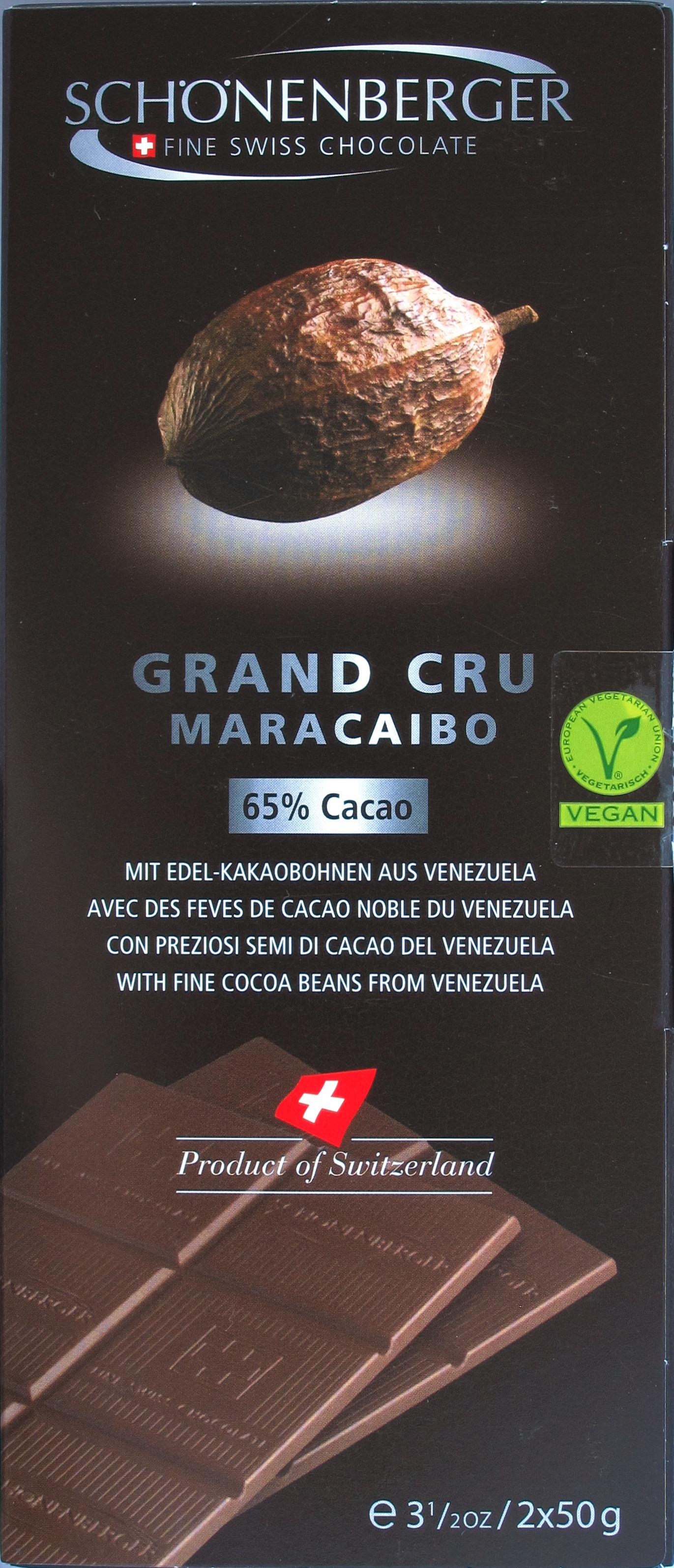 Umschlag der Schönenberger 'Grand Cru Maracaibo 65%'