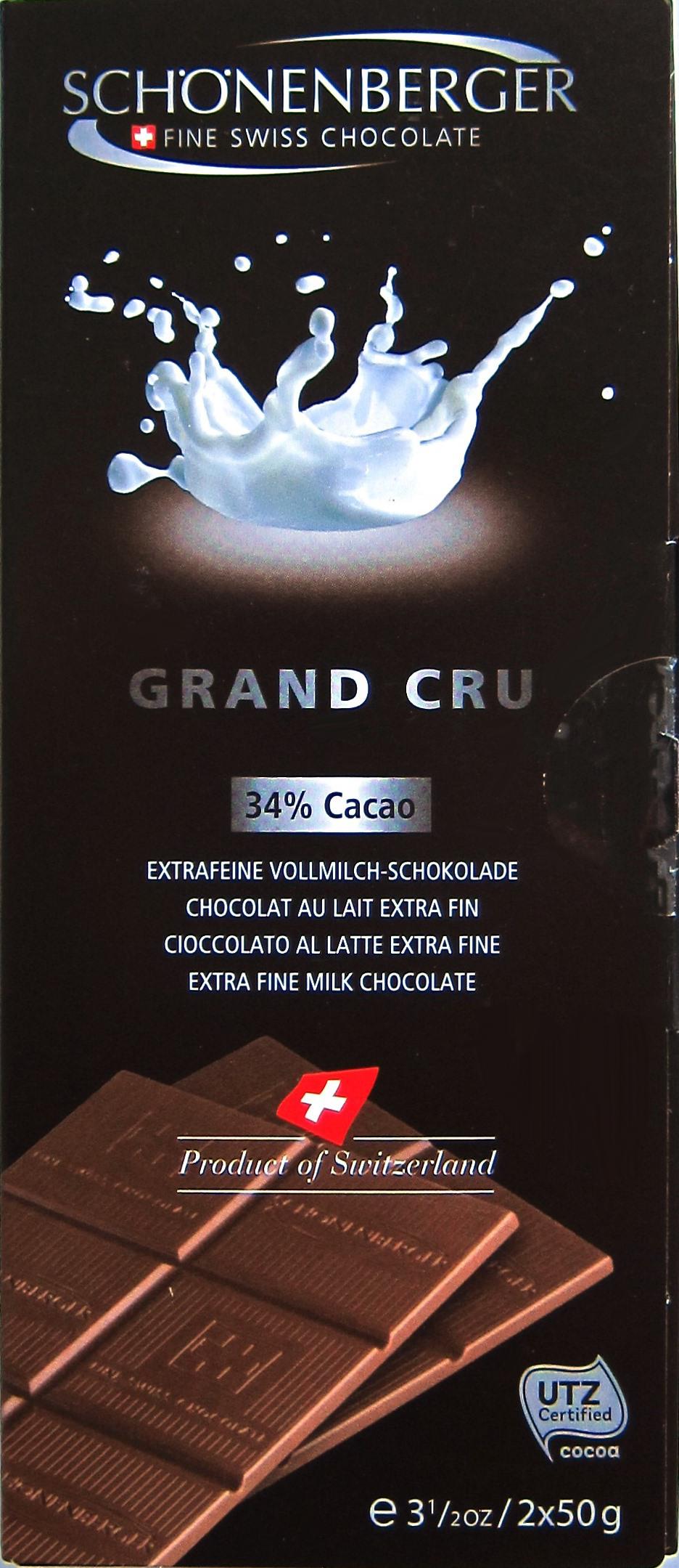 Schönenberger Grand Cru 34% Milch