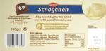 Schogetten (2012), Weiße Schokolade - Rückseite