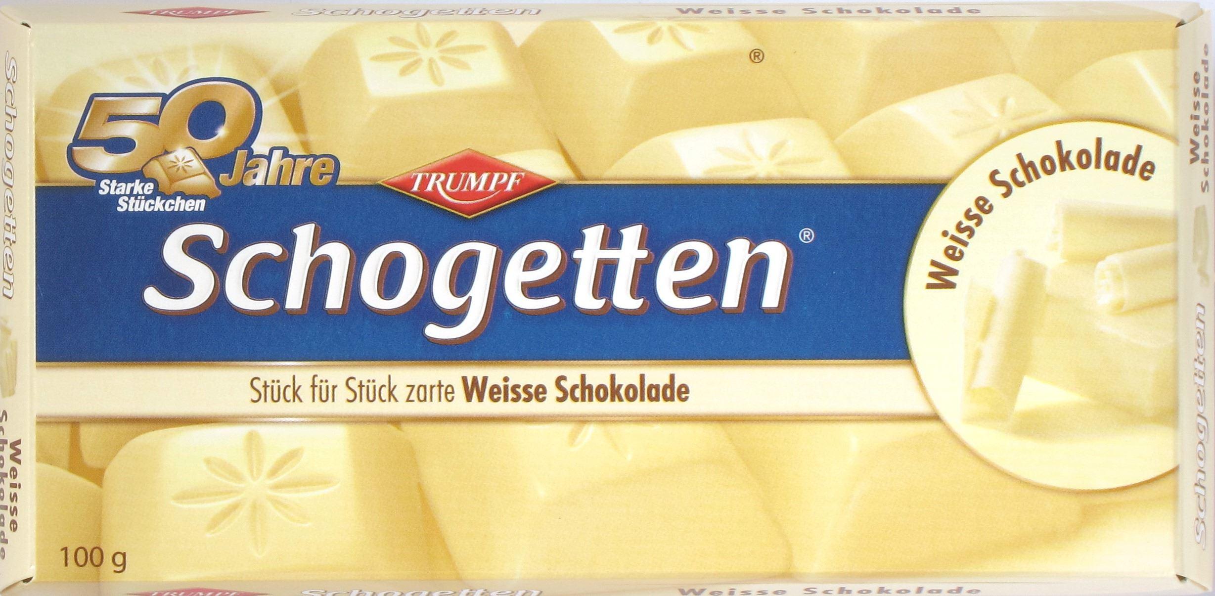Schogetten (2012), Weiße Schokolade