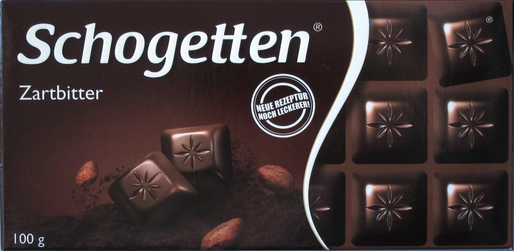 Schogetten-Zartbitter 50%, Vorderseite