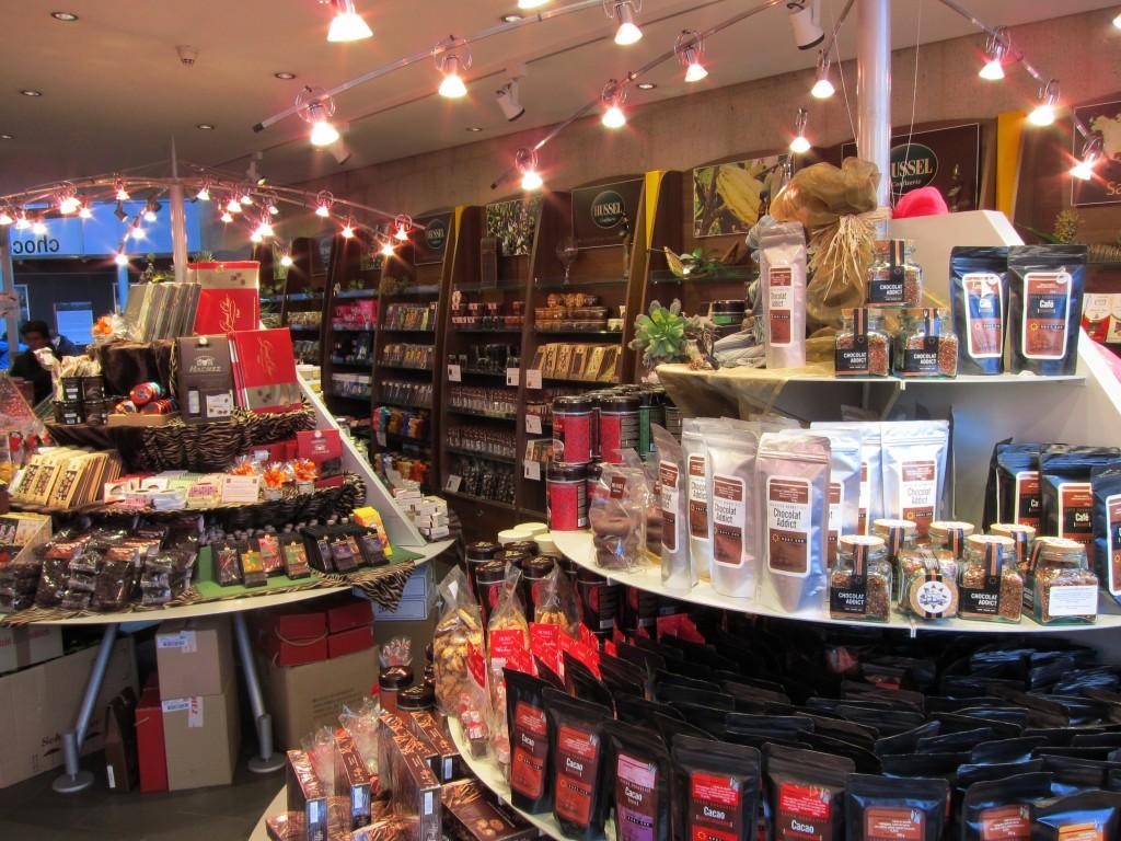 Schokoladen-Laden im Lindt-Imhoff-Schokoladenmuseum Köln