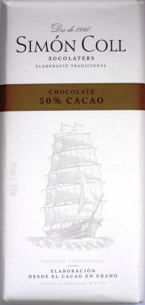 Simón Coll 50%-Schokolade 85g