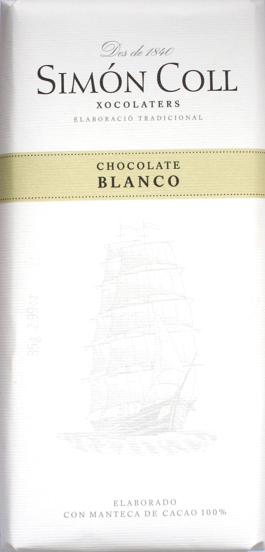 Vorderseite: Simón Coll Weiße Schokolade