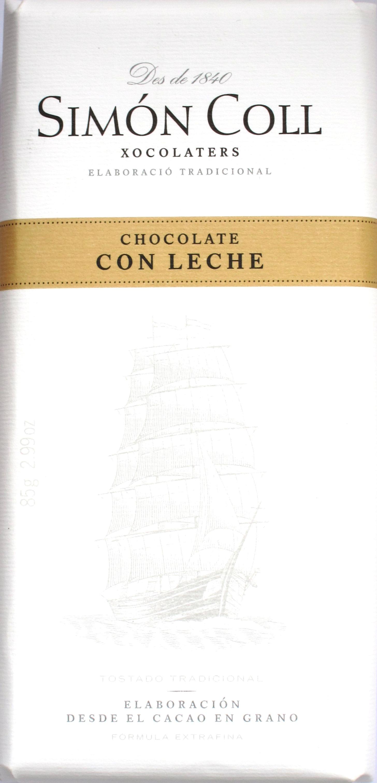 Vorderseite: Simón Coll Milchschokolade