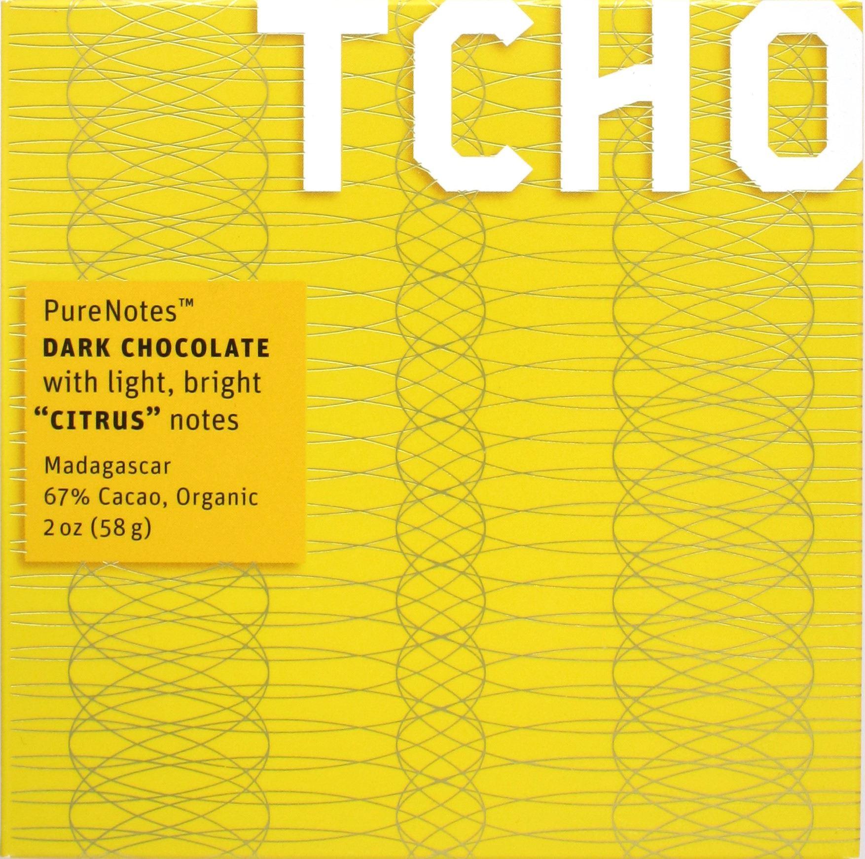 Vorderseite TCHO Citrus, 67%, Madagaskar-Schokolade