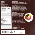TCHO 99% Dunkle Schokolade, Rückseite