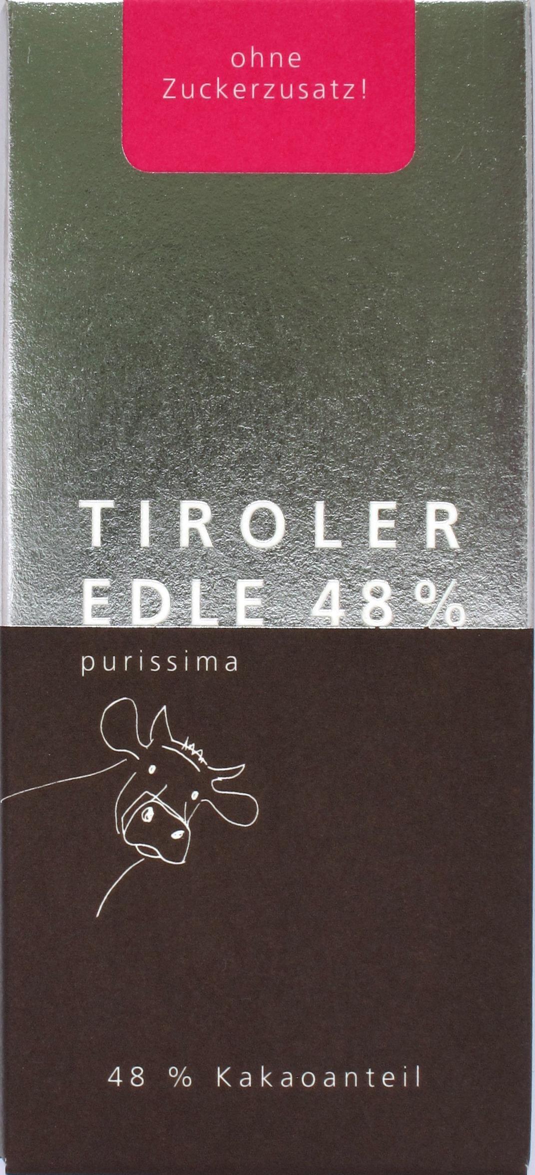 Tafel: Purissima Maxima 48% von Tiroler Edle