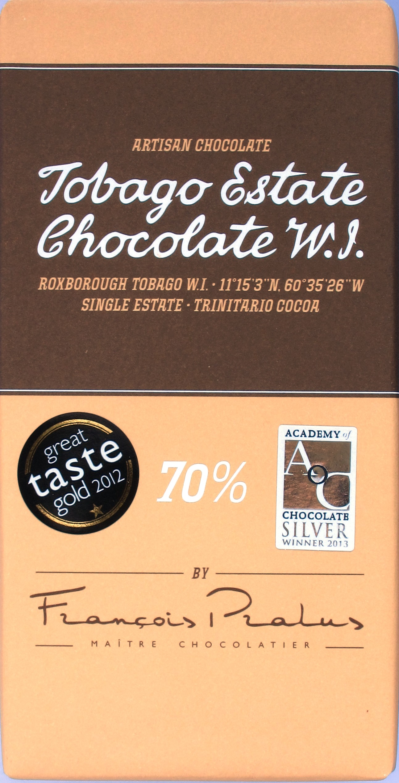 Tobago Estate Chocolate W.J. 70%