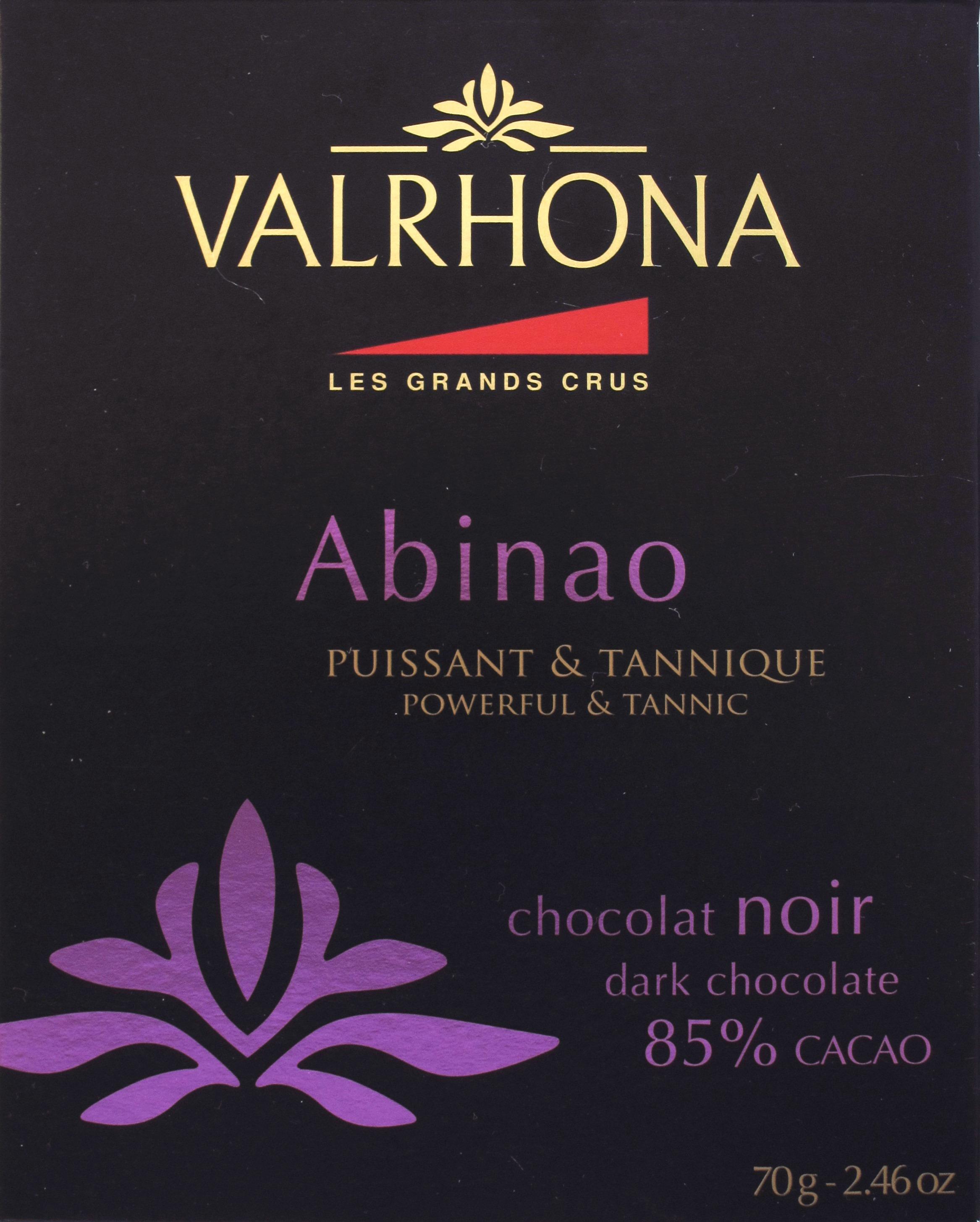 85%-Schokolade Valrona Abinao: Vorderseite