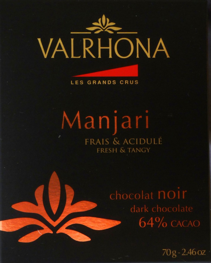 Valrhona Manjari 64% - Tafelvorderseite