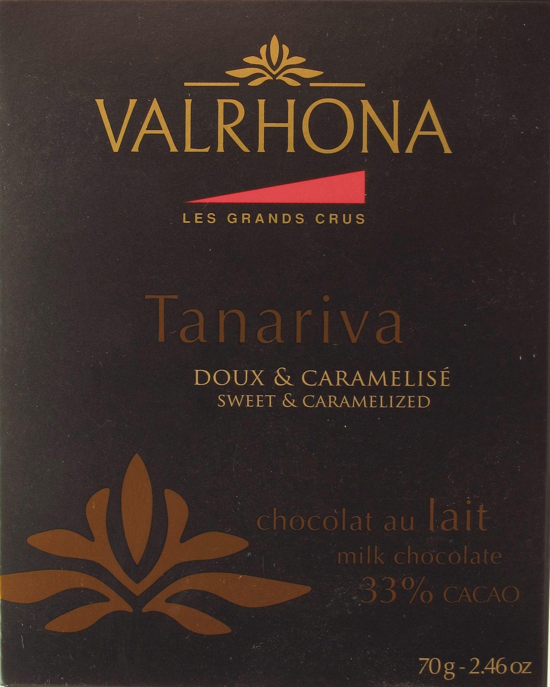 Valrhona Tanariva Milchschokolade Vorderseite