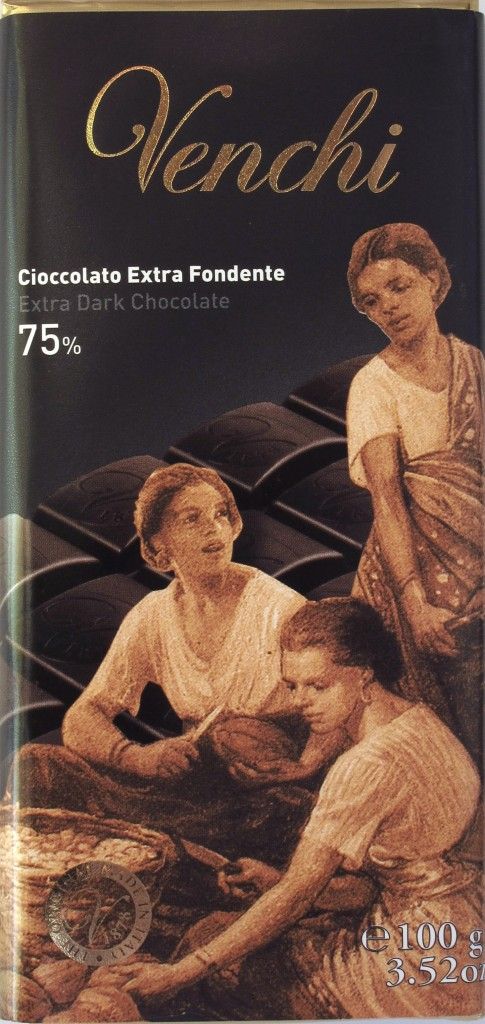 Venchi 75%-Bitterschokolade, Vorderseite