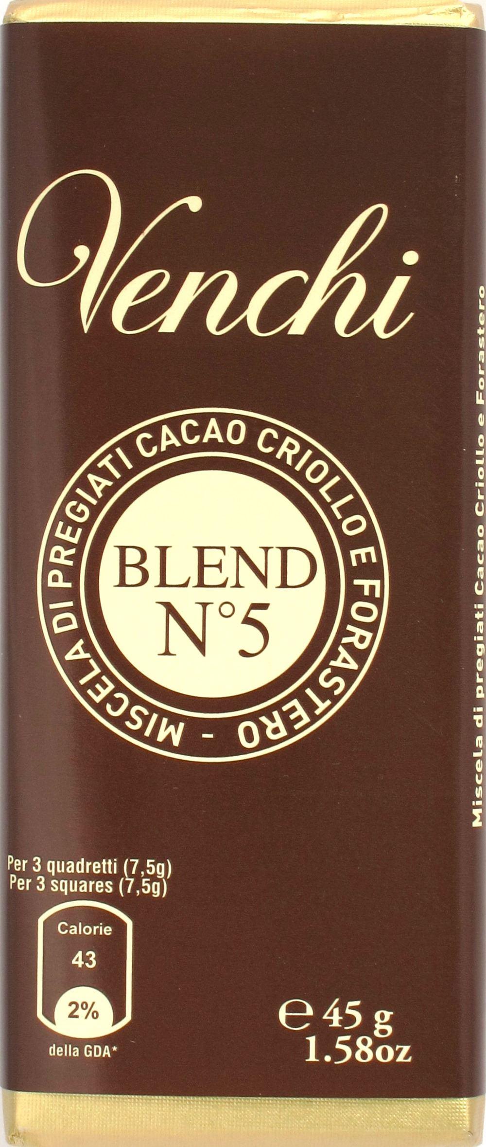 """Venchi 45g-Tafel """"No. 5"""", 79%"""