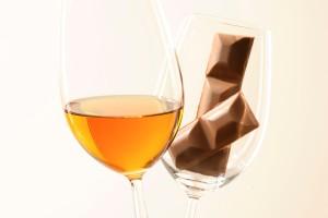 Foto: Wein zur Milchschokolade