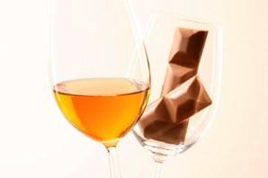 Foto: Milchschokolade mit Weißwein