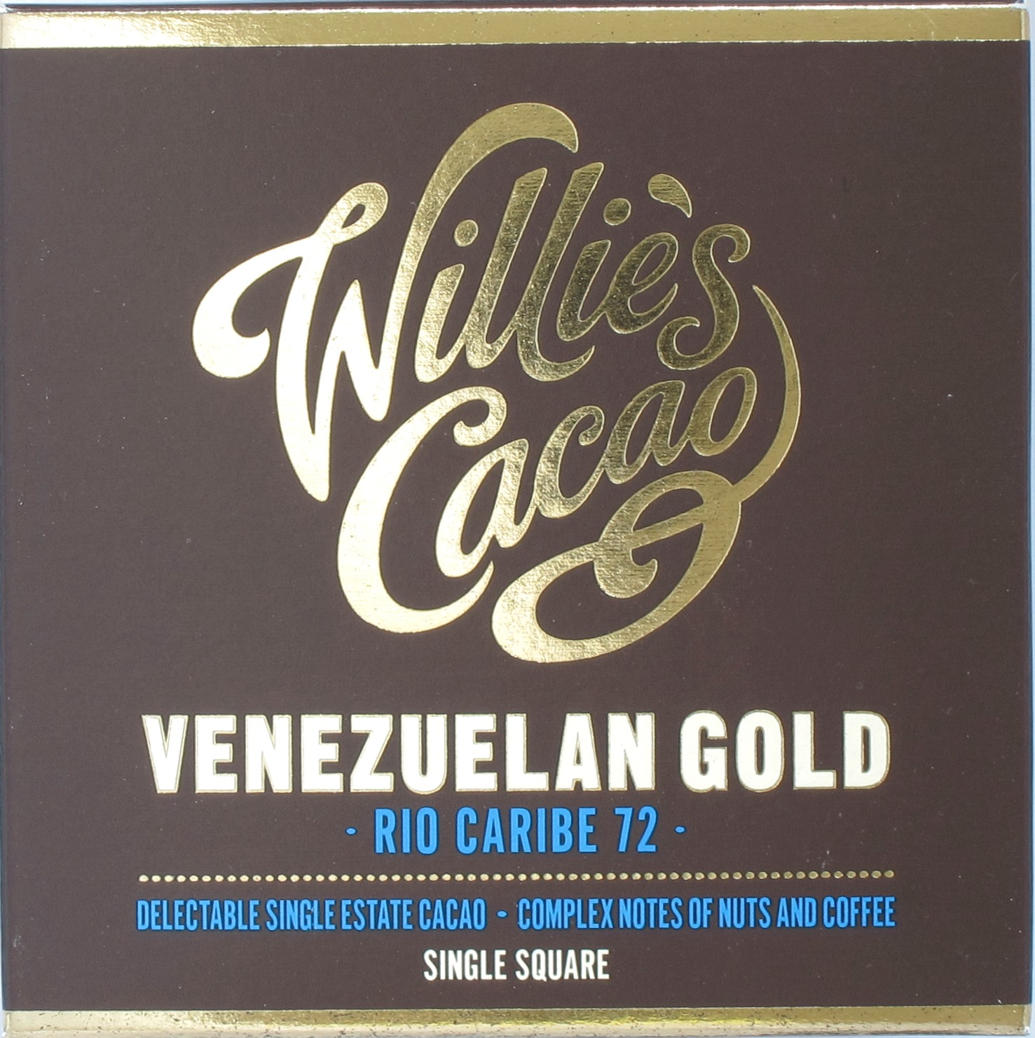 Willie's Schokolade 72% Venezuelan Gold Rio Caribe 72%