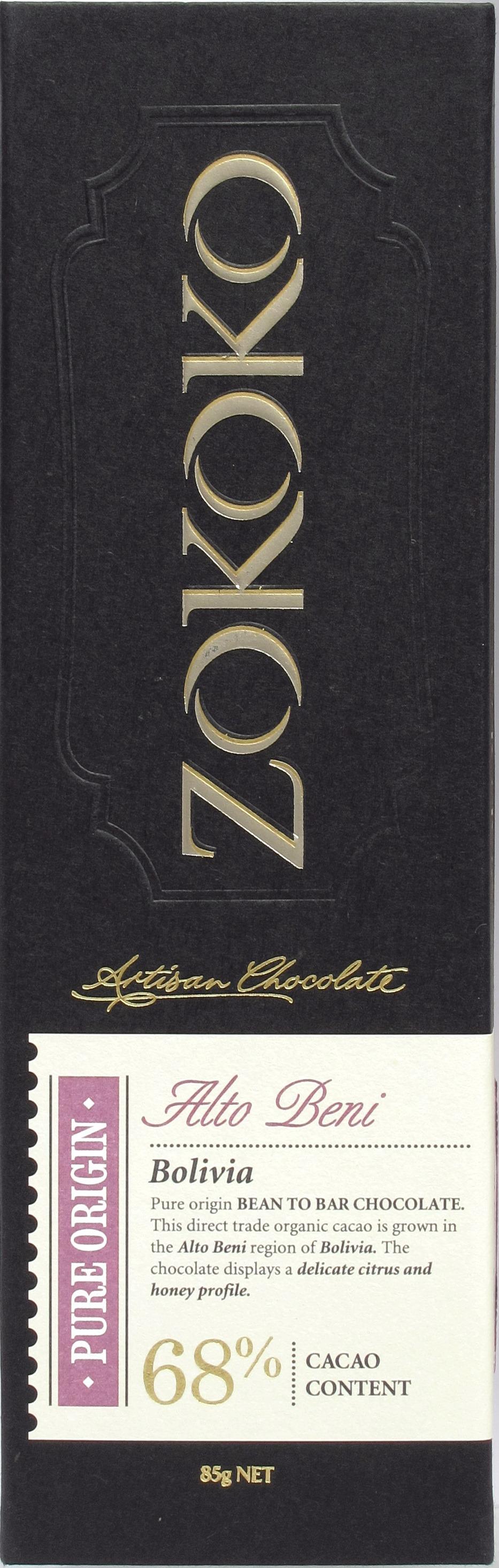 Zokoko Bolivien-Bitterschokolade