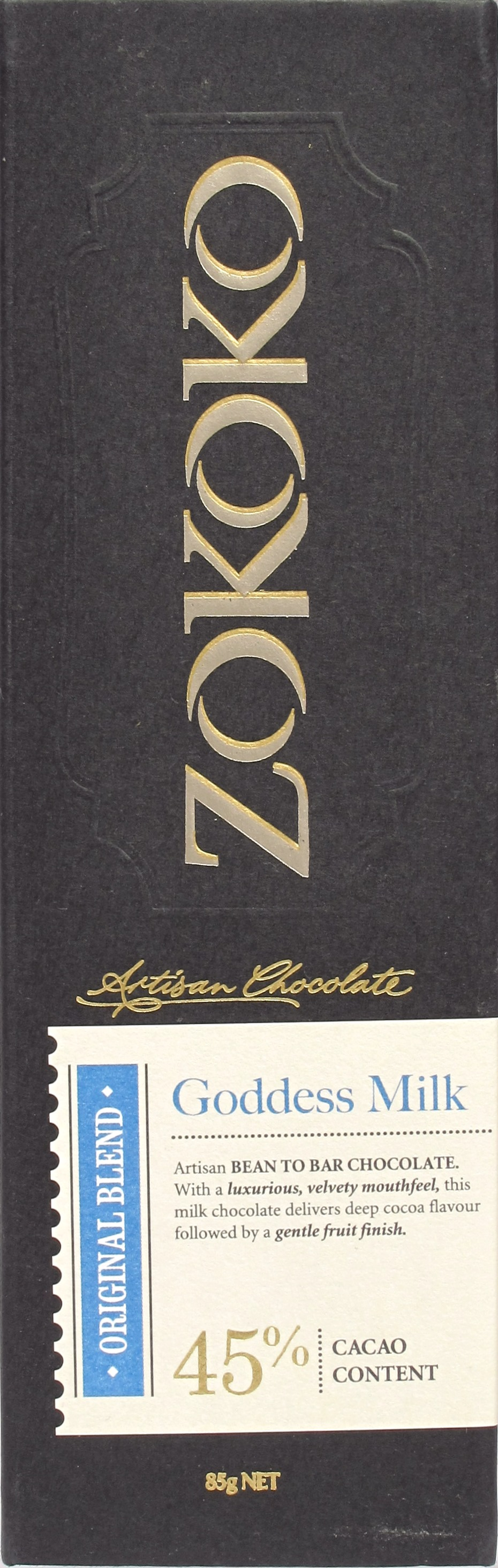 "Cover der Zokoko-Milchschokolade ""Goddess Milk"""