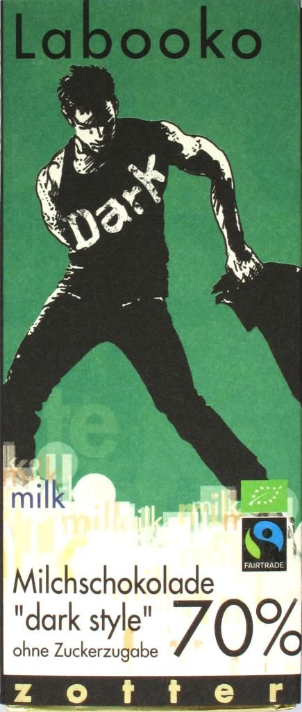 Zotter Dark Style 70% zuckerfreie Milchschokolade