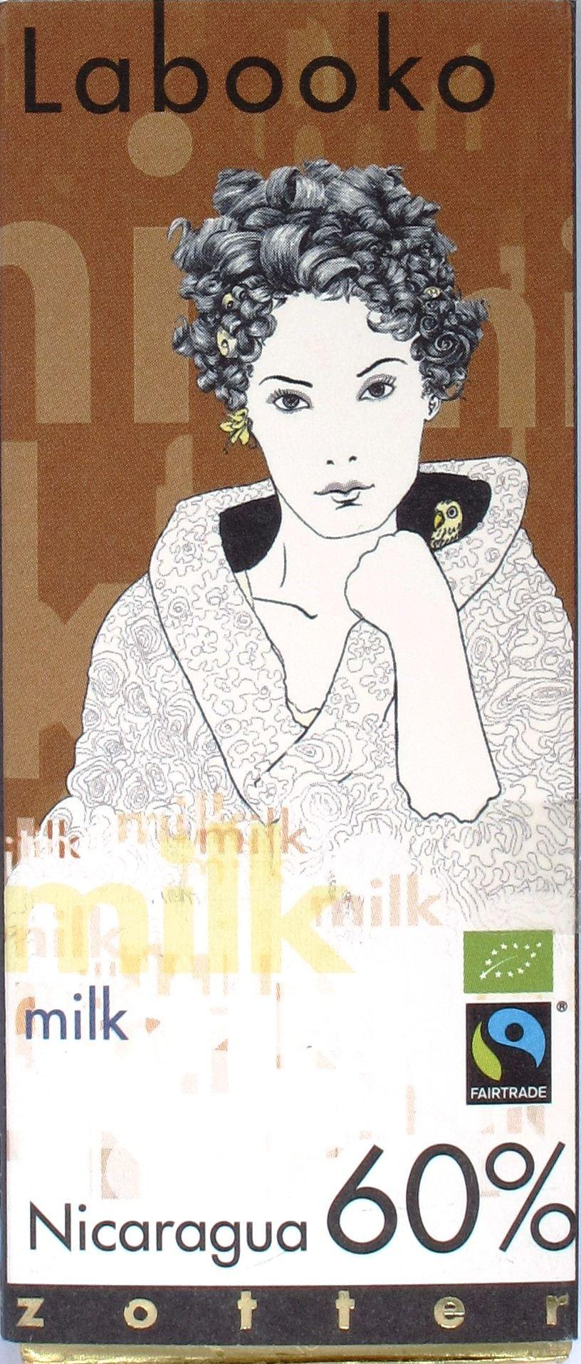 Zotter, Labooko, 60%-Milchschokolade