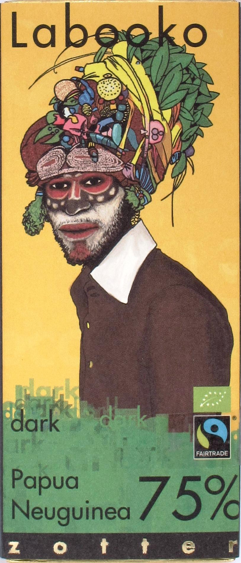 Zotter/Labooko Papua Neuguinea 75%: Vorderseite